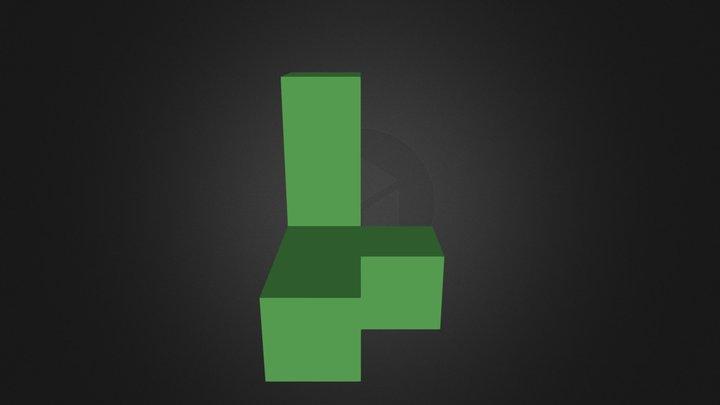 Green Puzzle Part 3D Model