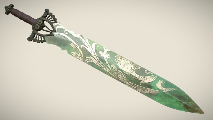 Jade Sword 3D Model