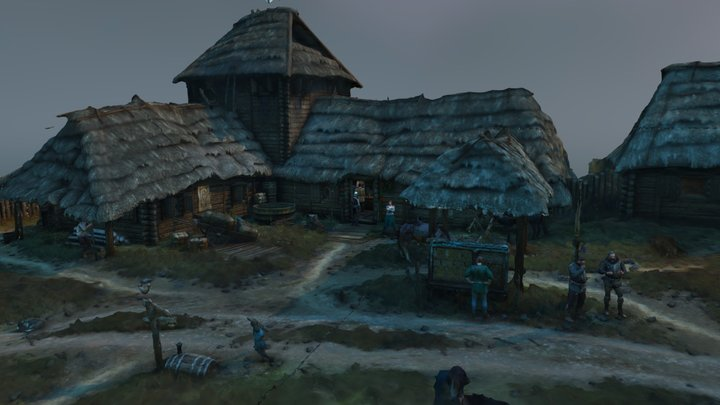 Inn at the Crossroads (The Witcher 3 Wild Hunt) 3D Model