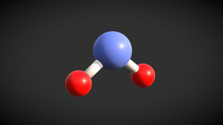 H2O Molecule 3D Model