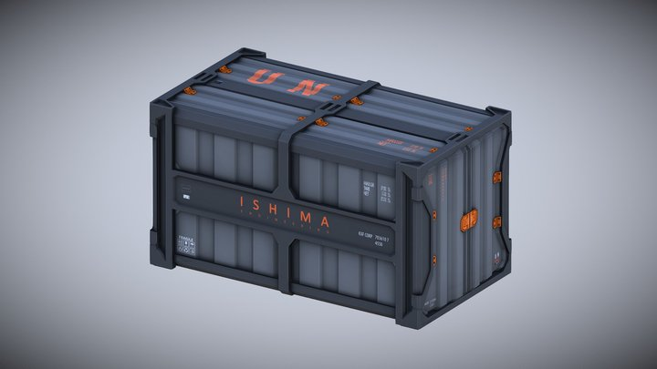 Shipping Container (engineering) 3D Model
