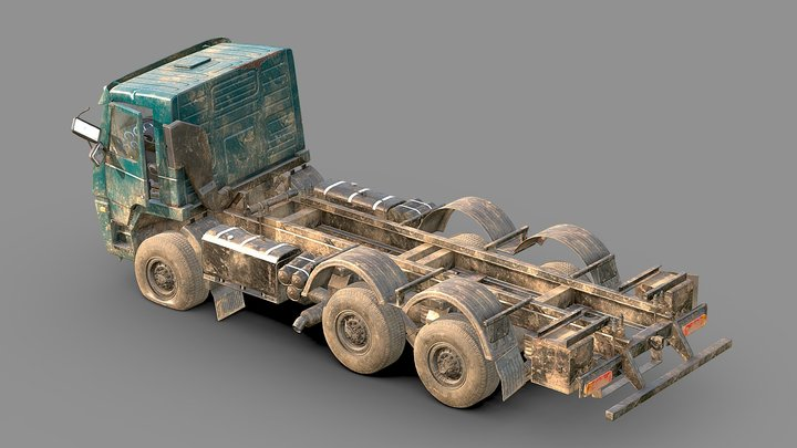 Abandoned Truck 3D Model