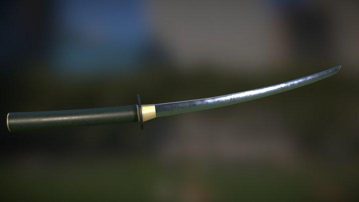 Katana Sword - lowpoly gameready 3D Model