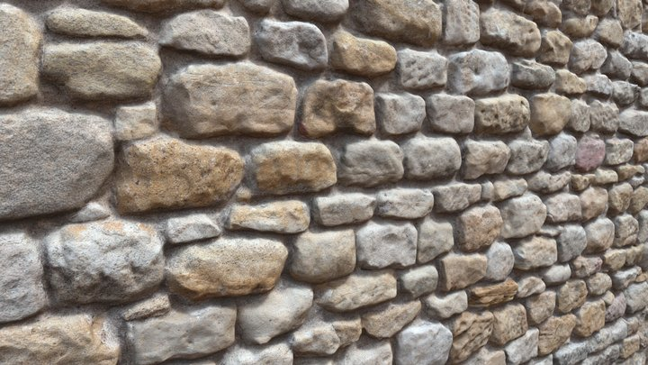 RAW 3D scanned stone wall 3D Model