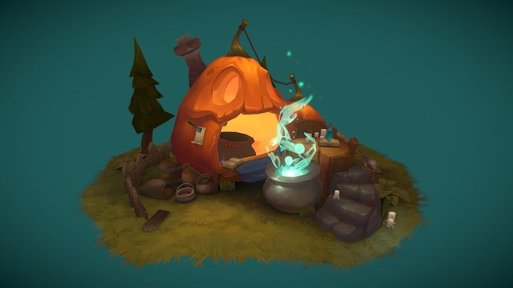 Witch's kitchen 3D Model