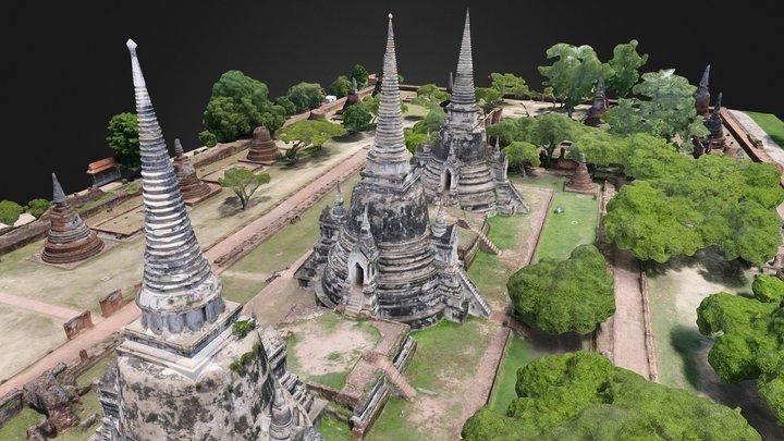 Wat Phra Si Sanphet 3D Model