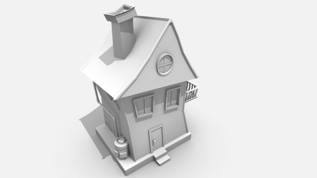 Free Toon House Download Free 3d Model By