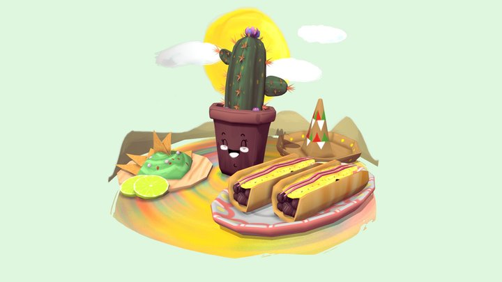 Mexic Food 3D Model
