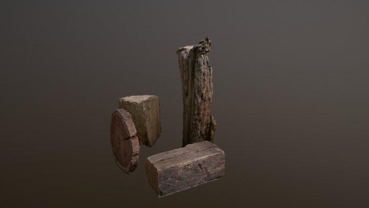 Package of Wood / Logs 3D Model