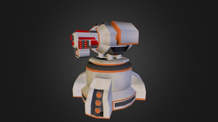 Basic Turret 3D Model