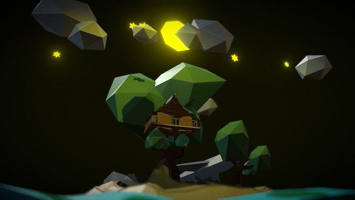 Night Land (lowpoly) 3D Model