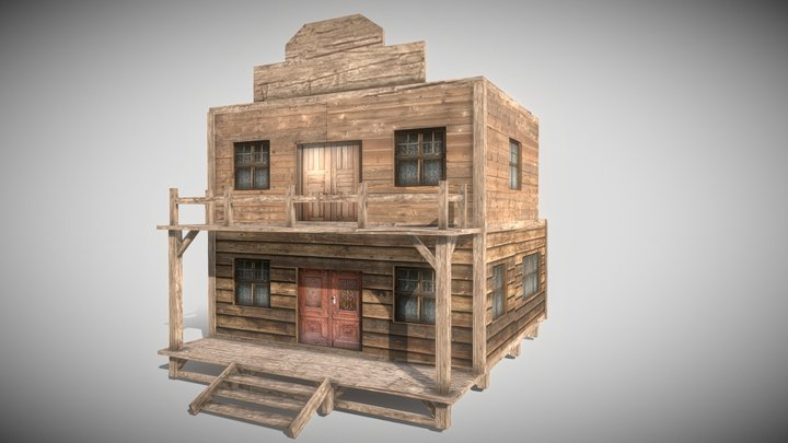 Western House - Mobile Game ready 3D Model