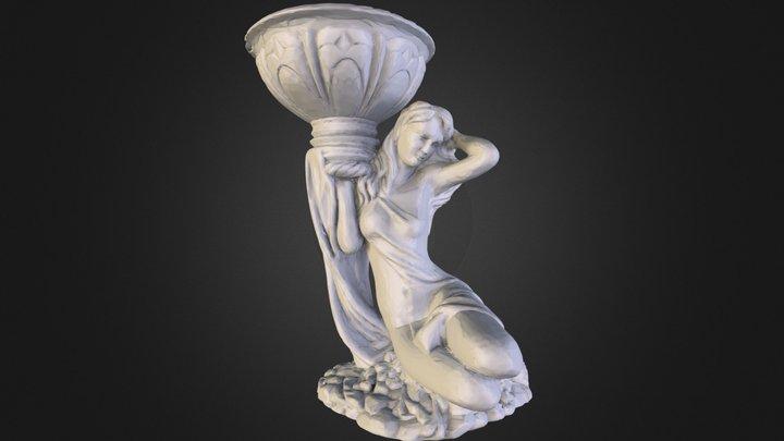 Девушка с Чашей 3D Model
