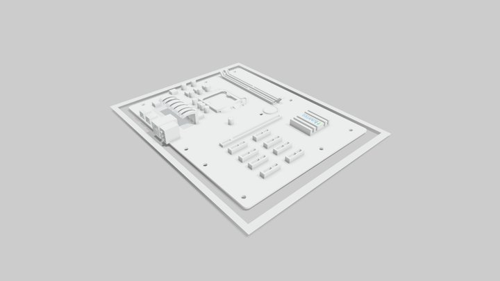 Asset Numi - ATX (hole pattern) 3D Model