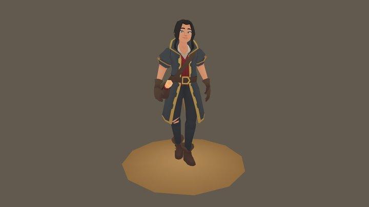 Pirate Messenger Adventuress 3D Model