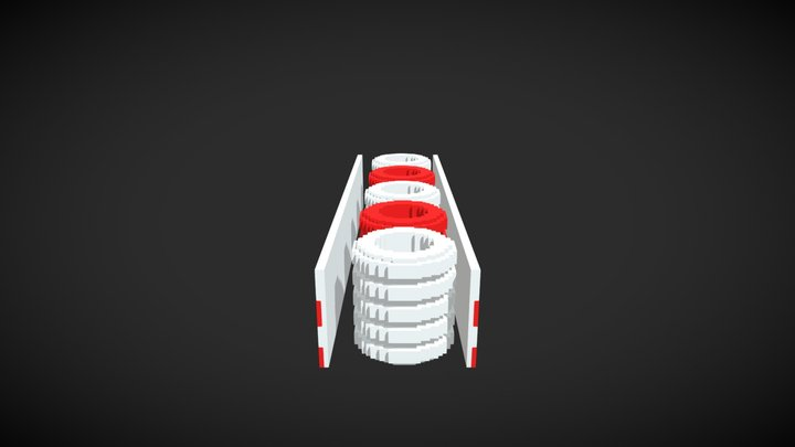 Voxel security wheels 3D Model