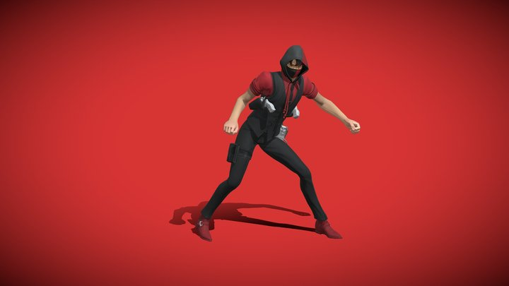 Fortnite Ikonik Agent With Smooth Moves Emote 3D Model