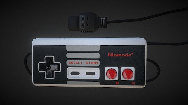 Controller Fami Com NES 3D Model