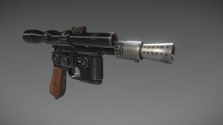 Han Solo's DL-44 Blaster 3D Model
