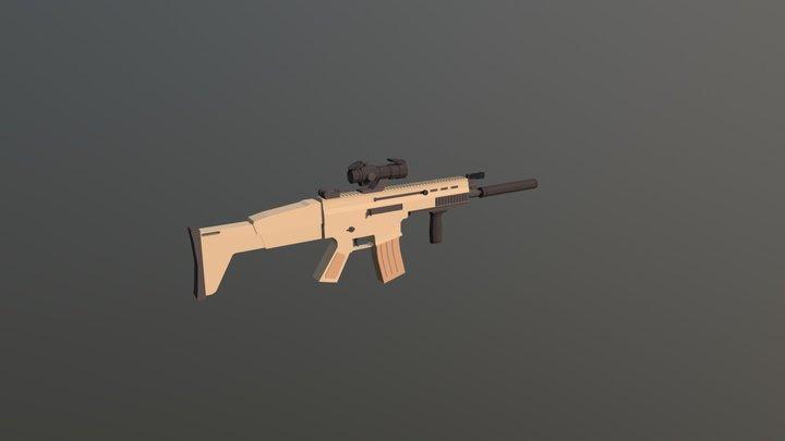 FN SCAR MK16 V2 3D Model