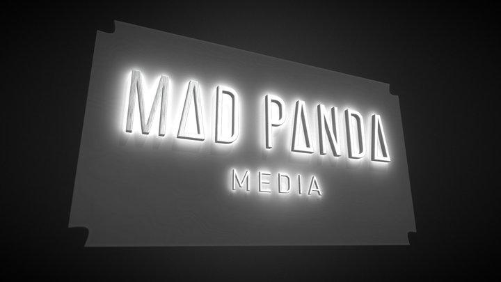 Mad Panda Media Logo concept 3D Model