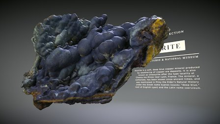 mineral: AZURITE 3794 3D Model