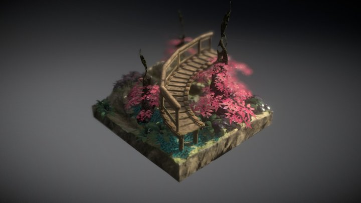 Stairs of Fantasy 3D Model