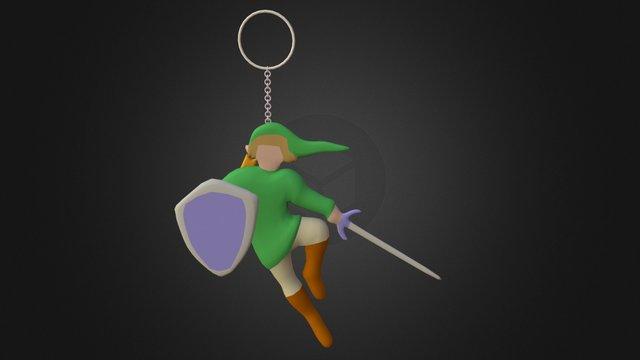 Link Key-chain : Zelda 30th Anniversary 3D Model