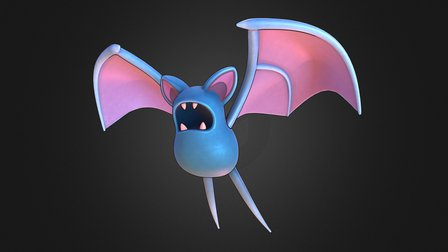Zubat Pokemon 3D Model
