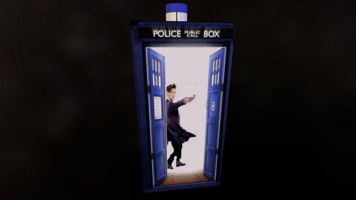 Dr Who Matt Smith in Tardis 3D Model