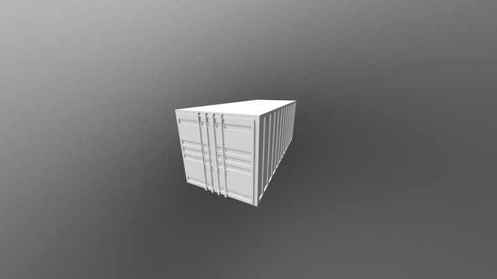 Shipping Container(CLOSED DOORS) 3D Model
