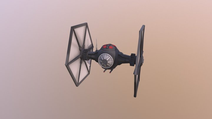 Twinlon Engine Fighter 3D Model