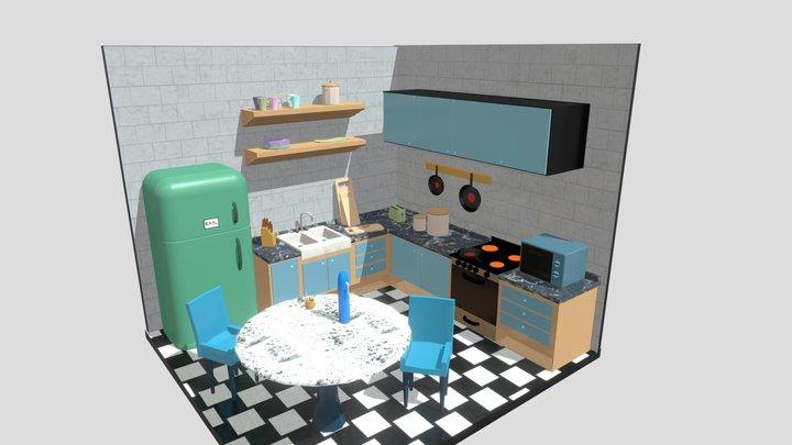 3D Kitchen diorama 3D Model