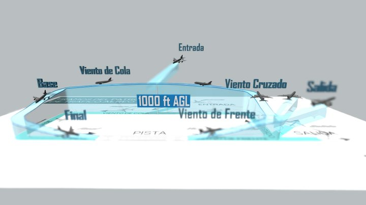 Patrón de Tráfico Aéreo - RTR Academy 3D Model