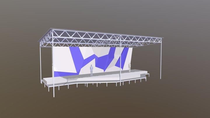 Скалодром уличный 3D Model