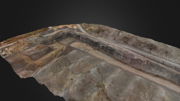 Oil shale quarry in NE Estonia 3D Model