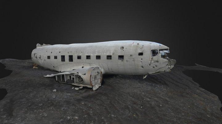 DC3 Plane Wreckage On Iceland (4) 3D Model