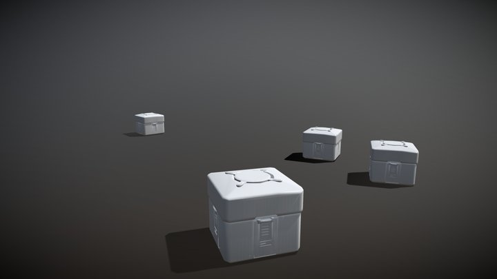 Lootbox No Color 3D Model