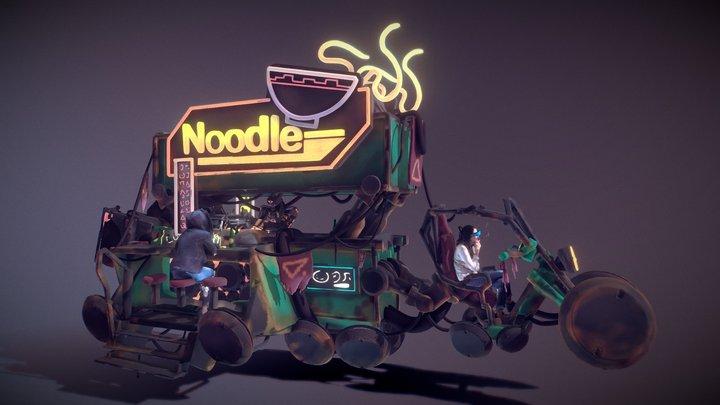 Neon Slums - Ramen Rickshaw (VR Sculpt) 3D Model