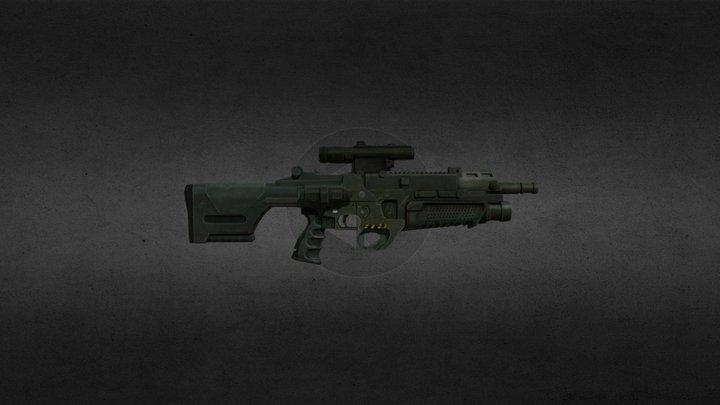 [LowPoly] Fantasy Rifle 3D Model