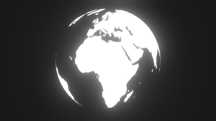 Earth Shine 3D Model