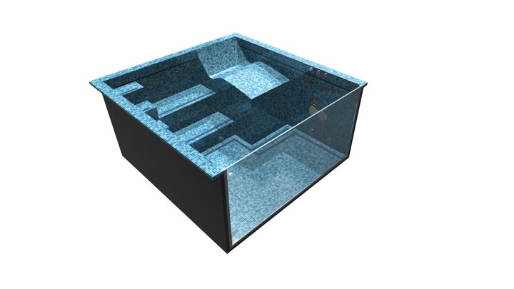 Cleopatra VI 3x3 glass wall double 3D Model