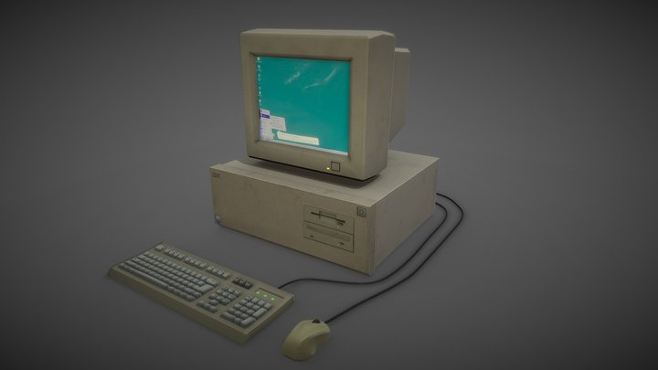 old pc 3D Model