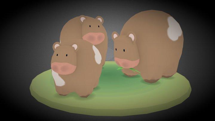 Cows 3D Model