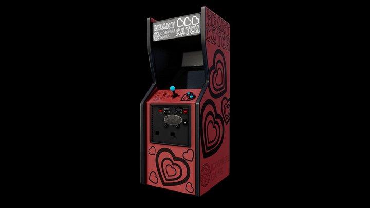 Arcade Cabinet Heart Catch 3D Model