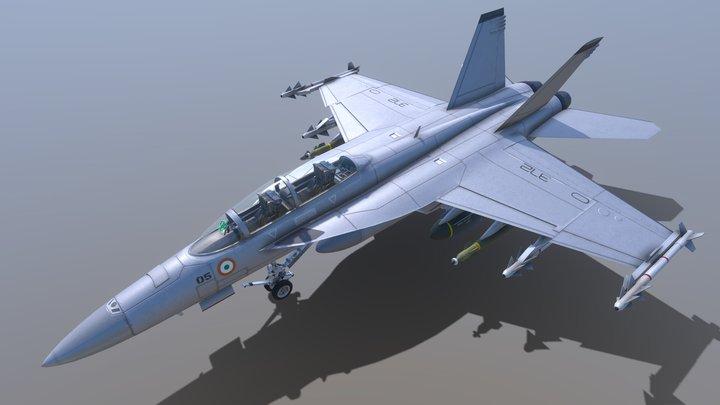 F-18 Super Hornet 3D Model