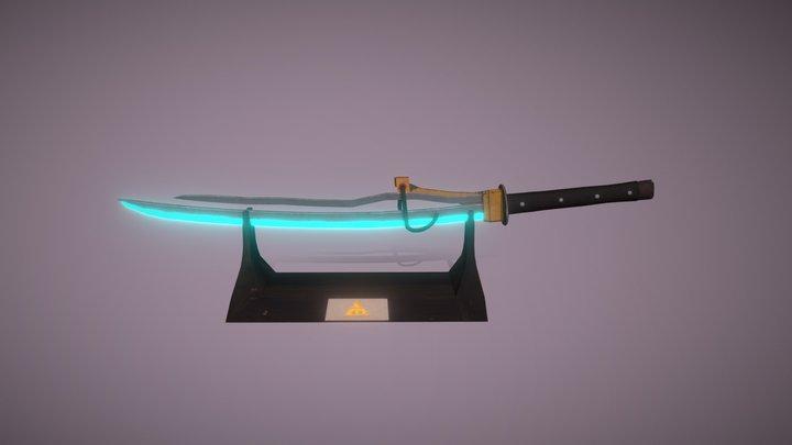 Cyberpunk Laser Katana - Game Asset 3D Model