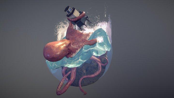Kraken Diorama 3D Model