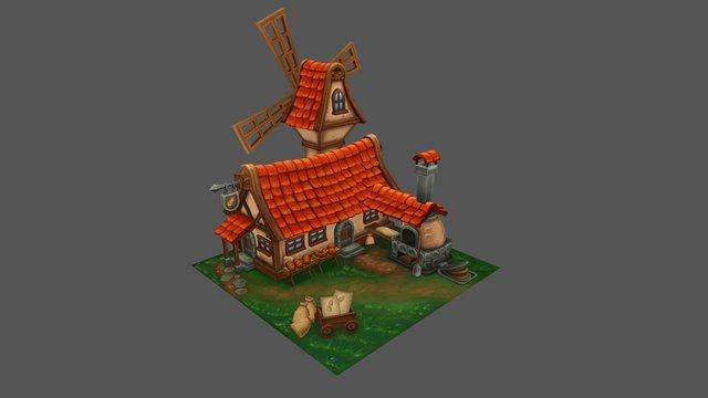 Medieval Bakery 3D Model