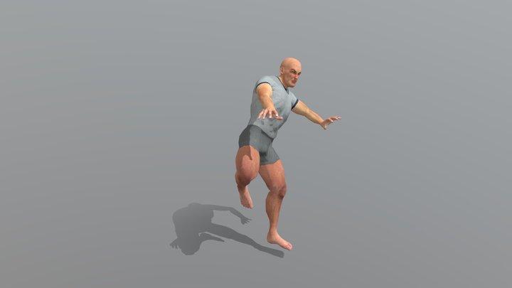 Mma Kick 3D Model
